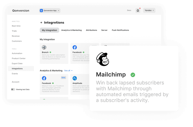 Send triggered emails with MailChimp and Qonversion integration